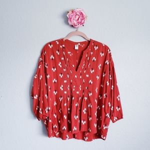 3 FOR $15 Old Navy Orange Red Pattern Blouse